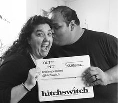 So much LOVE 😍💋💘 #NationalSpousesDay #HitchSwitch #claimyourname 📸: @senora_krod
