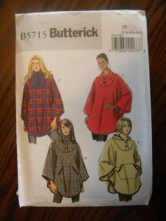 Butterick Pattern B5715  Ladies Capes size L 1618 by HikerJohnson, $7.00