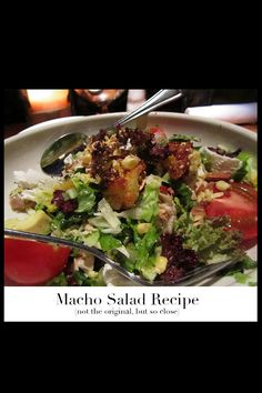 One of my all time favorite salads is Bandera's Macho Salad. Earlier this year, the Hillstone Restaurant Group shared many of their popular recipes with Bon Appétit, posted here, but the Mach…