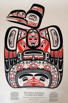 Bill Reid: Children of the Raven American Indian Art, Native American Art, Haida Art, Raven Art, Inuit Art, Tlingit, Indigenous Art, Watercolor Animals, Native Art