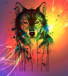 wolf art edited by me