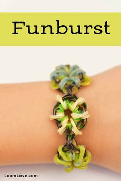 How to Make a Rainbow Loom Funburst Bracelet