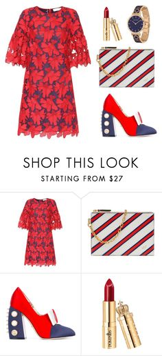 """""""Classic💄Addicted👗👠👝"""" by binefashionable ❤ liked on Polyvore featuring Tory Burch, Mulberry, Gucci and Halcyon Days"""