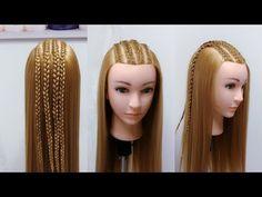 3 Peinados Faciles para Fiesta de Navidad / Easy & Cute Christmas Hairstyles / Felices Fiestas!! - YouTube Bridal Hairstyles With Braids, Little Girl Hairstyles, Braided Hairstyles, Frontal Hairstyles, Hairstyles Haircuts, Cornrows, Rubber Band Hairstyles, Christmas Hairstyles, Great Hair