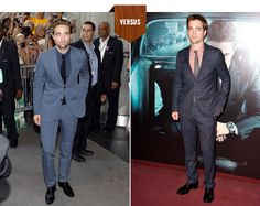 Rob Pattinson vs Himself... A lil bit of scruff and a well tailored suit can do any man justice, but RP <3
