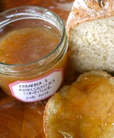rhubarb and orange jam Kitchen Queen, Rhubarb Recipes, Tapenade, Apple Butter, Dairy, Pudding, Cheese, Homemade, Fruit