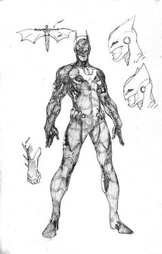 batwing character concept art - Google Search