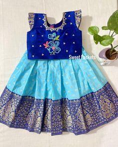Kids Dress Wear, Kids Gown, Toddler Girl Dresses, Baby Girl Lehenga, Kids Lehenga, Kids Frocks Design, Baby Frocks Designs, Kids Dress Collection, Kids Ethnic Wear