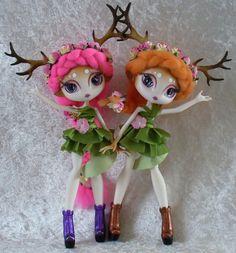 Two little deer - custom Novi Stars Doe dolls   Flickr - Photo Sharing!