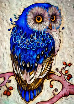 paintings of owls at night - Cerca con Google