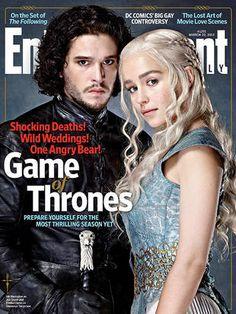 Jon Snow and Daenerys from Game of Thrones -- Nikki go buy the magazine lol