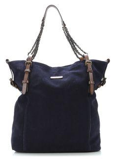 wardow.com - #Liebeskind, Vintage Suede Fabala Shopper Leder midnight blue 43 cm