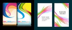 Colorful card background design elements vector