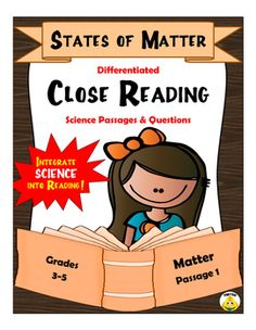 FREE Differentiated Reading Passages and Questions. The file includes one passage written on three levels. As all students are tested on the same benchmarks, the passages are differentiated -not the assessment. Science Lesson Plans, Science Lessons, Teaching Science, Science Ideas, Passage Writing, Reading Passages, Close Reading, Guided Reading, Free Reading