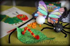 The very Hungry Caterpillar crafts   Its a Bugs Life +  + Preschooler Crafts & Activities PipeCleaner Crafts Paper Crafts Kindergarten Crafts & Activities #GooglyEyes #CraftClass