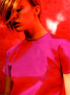 iiiinspired: 10 _ 8 _ red on pink