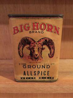 Spice Tin - Crazy Rare Big Horn
