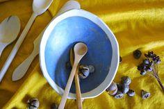 Ensaladeras y cuencos - Cuenco inclinado - hecho a mano por paulacb en DaWanda