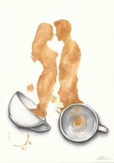 Coffee Drawing, Coffee Painting, Coffee Artwork, Art Aquarelle, Coffee Poster, Coffee Photography, Food Photography, Tea Art, Coffee Quotes