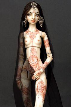 Tattoos - Enchanted Doll by Marina Bychkova