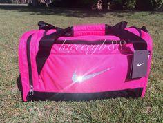 d42ca02b55 Bling Swarovski Nike Duffle Bag by laceeeyb88 on Etsy https   www.etsy