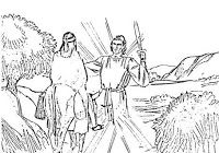 A Donkey Talks To Balaam Bible Coloring Pages Coloring Pages Bible