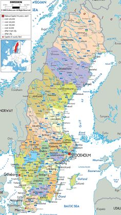 Map of Sweden. Lund is near the extreme lower left of the map. The city was founded in its current location around 990, probably due to an initiative of King Sven I of Denmark. Trade soon became a prominent activity in the city. In particular, during the Middle Ages, the city hosted the spring market Tre marknad Hogar, which probably attracted people from all over Skåne in Lund