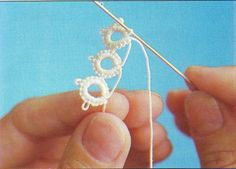 Needle Tatting -- craft lessons: lace fan! tatting tutorial - crafts ideas - crafts for kids