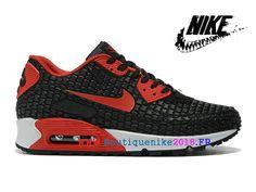 quality design 9a787 3e7d8 Nouveau Nike Air Max 90 Chaussure de Nike Sports Pas Cher Pour Homme Noir  Blanc-