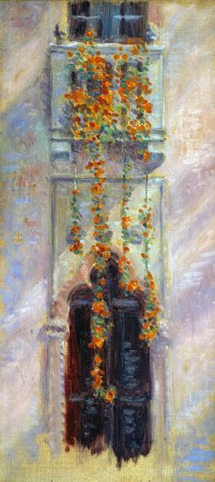 Arthur Pope, Nasturtiums at Fenway Court, 1919, Oil on canvas. See it in the MacKnight Room.