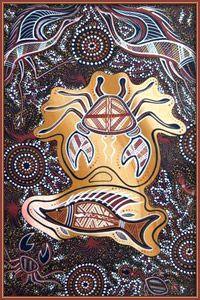 By Lyndon Davis Gubbi Gubbi Dance - Art Gallery Art Gallery, Indigenous Art, Animal Art, Tribal Animals, Dance Art, Painting, Art, Sand Painting, Painted Leaves