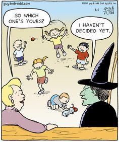 Halloween Witch Comic