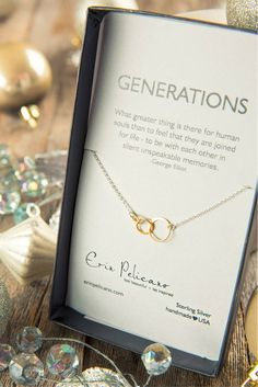 Christmas Gifts for Her. Inspirational Jewelry Gifts. Necklace Gift for Mom or Grandma