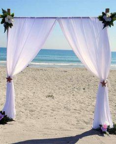2014 chiffon beach wedding arch, white beach wedding arch