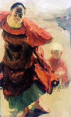 """Philipp Malyavin (Russian)  """"Mother and Child"""", 1901"""