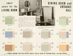 interior paint color scheme 1930s 1930s color scheme 1930 green