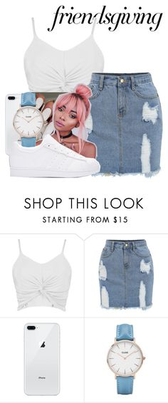 """""""Untitled #744"""" by littydee ❤ liked on Polyvore featuring Boohoo, Floss Gloss, CLUSE and adidas Originals"""