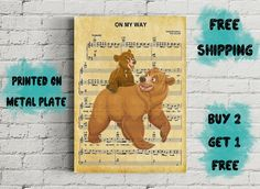 Brother Bear Music Art Print-On my Way brother bear-Disney Brother Bear, My Way, Disney Art, Artists, Baseball Cards, Art Prints, Unique, Music, Poster