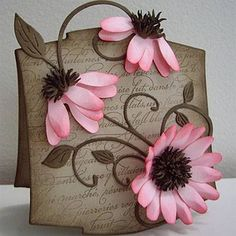 3D Flowers that extend past the end of the card!
