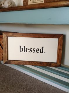 BLESSED Wooden Sign by BurlapAve on Etsy  BLESSED Wood Sign  Simple Decor Home Decor