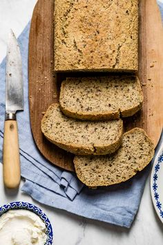 The BEST healthy low carb bread recipe that is easy and quick to make. Gluten-free, low sugar, paleo and keto friendly. Great to use as a sandwich bread or to slice for breakfast. Low Carb Almond Flour Bread Recipe, Easy Keto Bread Recipe, Keto Flour, Baking With Almond Flour, Lowest Carb Bread Recipe, Low Carb Bread, Easy Cake Recipes, Bread Recipes, Cooking Recipes
