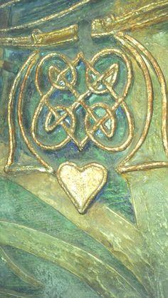 Watts Chapel, Compton , Surrey. Detail gesso