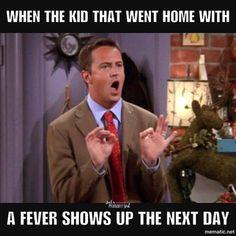 56 Times Chandler Bing Was the Best Part of 'Friends' Sick Baby, Sick Kids, Matthew Perry, Chandler Bing, Teacher Humour, Funny Teacher Memes, Funny Teachers, Math Memes, Sick Meme
