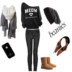 Comfy and warm by raquelsday on Polyvore featuring polyvore, fashion, style, Topshop, UGG Australia, L.O.V Project, Tarnish and Free People
