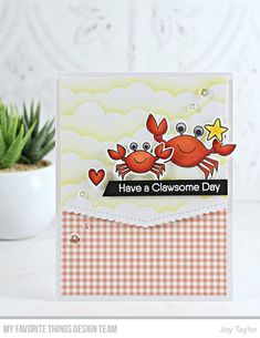 Stamps: Just Beclaws Die-namics: Just Beclaws, Stitched Scallop Basic Edges Stencil: Mini Cloud Edges Joy Taylor #mftstamps
