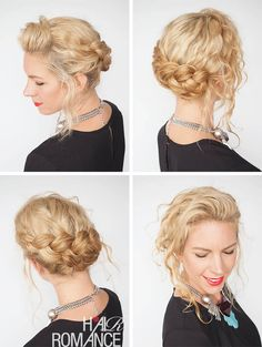30 Curly Hairstyles in 30 days - Day 8 - Braid updo