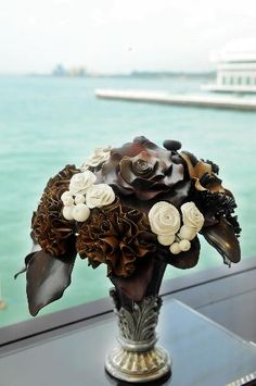 A bouquet made of chocolate