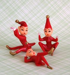 Red Pixie Cupcake Toppers (3). $3.75, via Etsy.