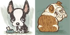 Dog Illustrations by Toru Sanogawa