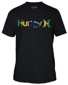 Camiseta Hurley Men's One & Only Country Brazil #Camiseta #Hurley